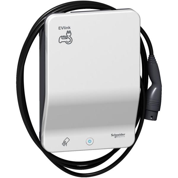 Schneider Electric EVlink EVB1A22PCRI G4 Smart RFID 22kW Ladesäule 4,5m Ladekabel Typ 2
